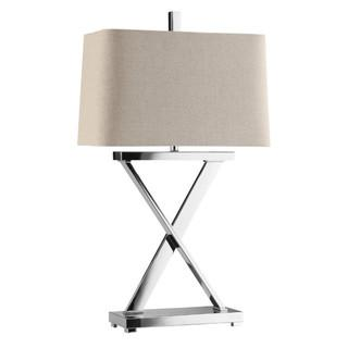 Max Chrome 'X' Table Lamp, Overstock.com