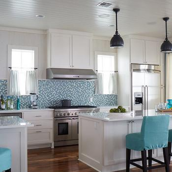 Turquoise Kitchen Design, Cottage, Kitchen, Tracery Interiors