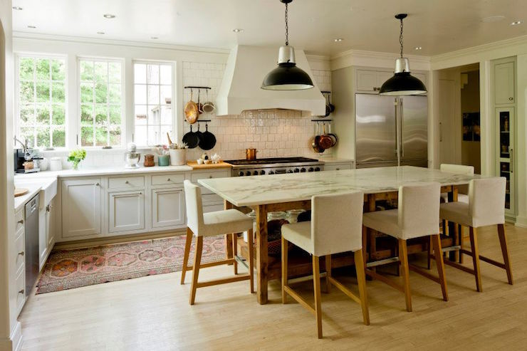 Open Kitchen Island - Transitional - Kitchen - Cantley and ...