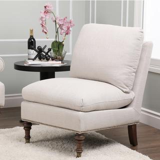 Monica Pedersen Grey Linen Slipper Chair by Abbyson Living, Overstock.com