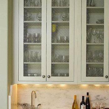 Wire Mesh Inset Cabinet Doors Design Ideas