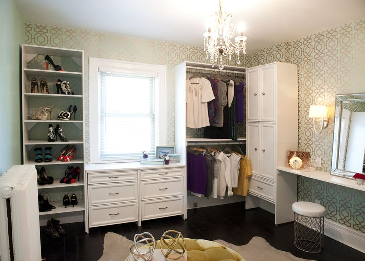 Glam dressing rooms contemporary closet Makeup room paint colors