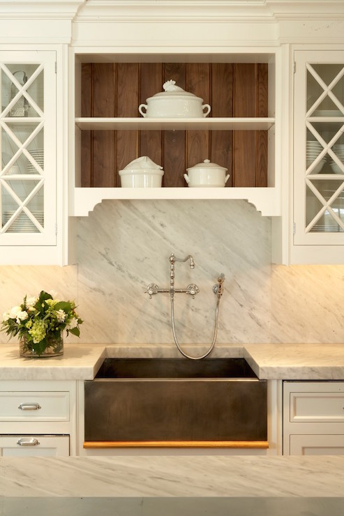 white carrera marble backsplash traditional kitchen shor home