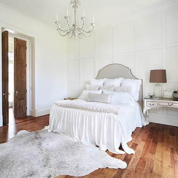 French Bedroom with Silver Bedside Table, French, Bedroom, Benjamin Moore Dove Wing, Telich Custom Homes