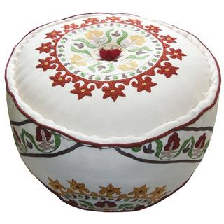 Celebration Suzani Embroidered Pouf Ottoman , Overstock.com Shopping, The Best Deals on Ottomans