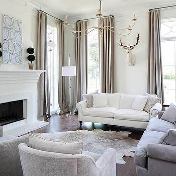 Gray Velvet Tufted Sofa Transitional Living Room