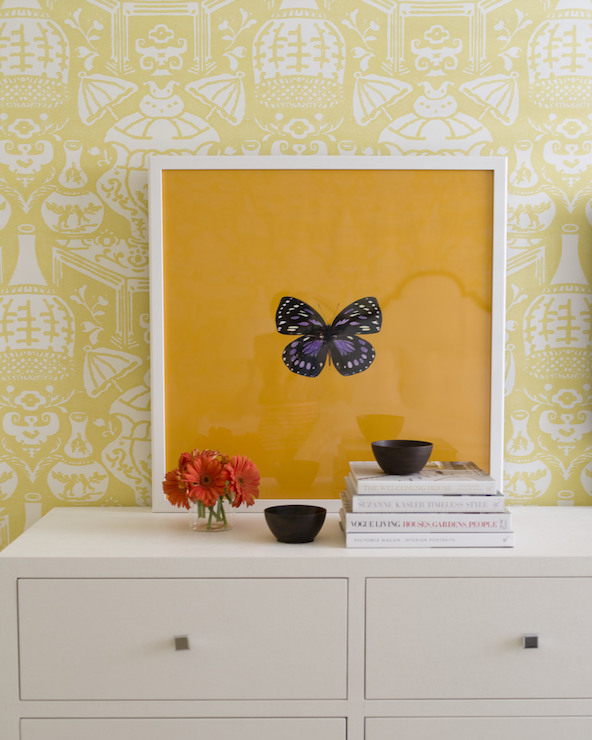 The Vase Wallpaper Transitional Girls Room J K Kling Associates