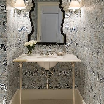 Washstand with Fluted Legs, Transitional, Bathroom, J K Kling Associates