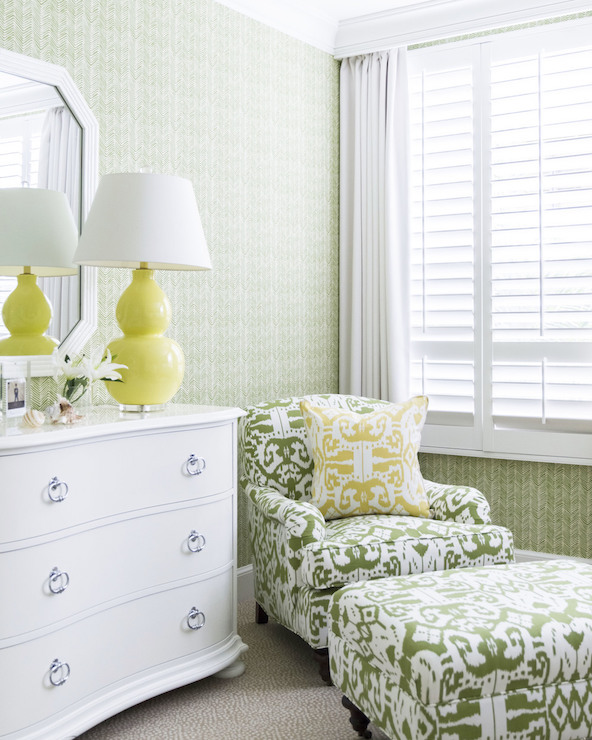 Yellow And Green Bedrooms Transitional Bedroom J K