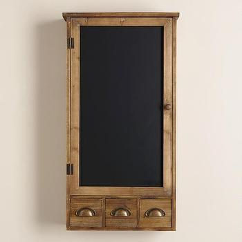 Farmhouse Chalkboard Wall Cabinet