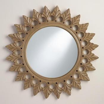 Gray Round Starburst Vani Mirror