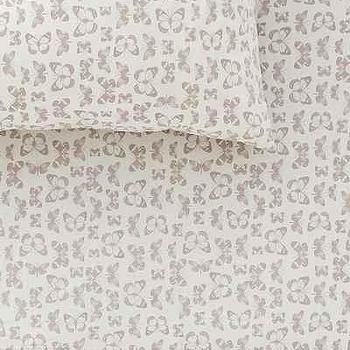 Plum & Bow Repeat Butterflies Fitted Sheet, Urban Outfitters