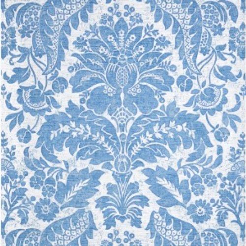 Stroheim Marine Blue And White Wallpaper