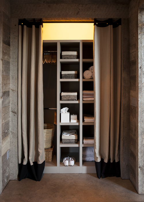 Closet with Curtains