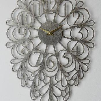Gatehouse Wall Clock, Dangling Numbers Wall Clock