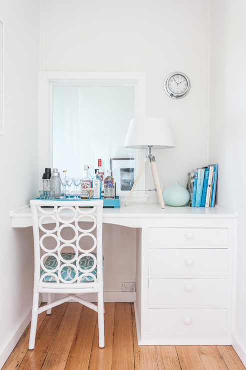Built In Desk Nook Cottage Bedroom Coastal Style