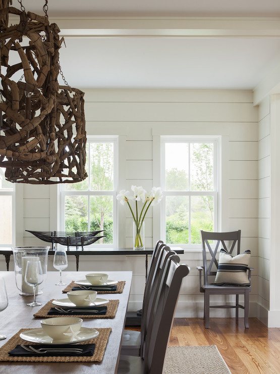 driftwood chandelier transitional dining room sophie metz design