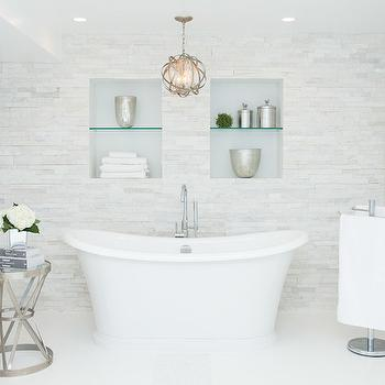 Bathroom with Tiled Accent Wall, Contemporary, Bathroom, Catherine Tonon Interiors