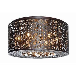 Inca Bronze 7-light Flush Mount, Overstock.com Shopping, The Best Deals on Flush Mounts