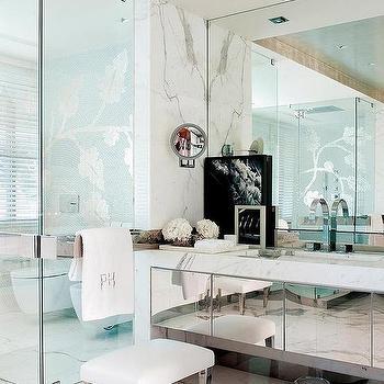 Mirrored Bathroom Vanity, Contemporary, Bathroom, Nuevo Estilo