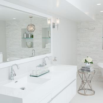 White Lacquered Bathroom Vanity