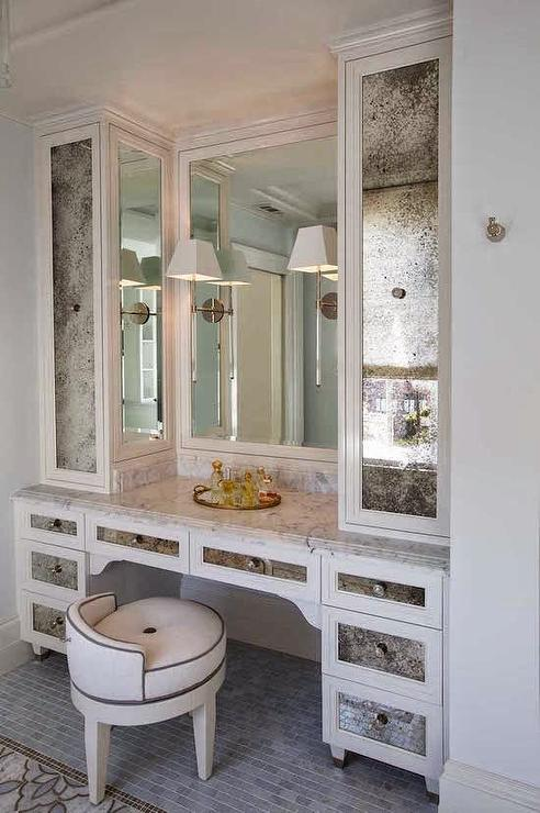 Vanity Mirror With Lights Built In : Built In Dressing Table - Contemporary - Closet - Kimberley Seldon Design Group