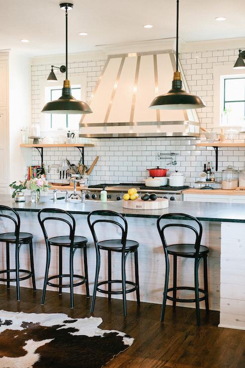 Wood kitchen shelves with iron brackets transitional kitchen wood kitchen shelves with iron brackets mozeypictures Images