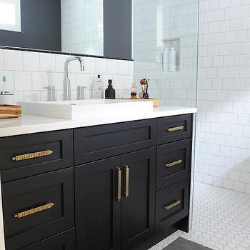 Black Bathroom Vanity With Gold Hardware