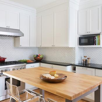 Marble Herringbone Backsplash, Transitional, Kitchen, Sherwin Williams Mink, Pinney Designs