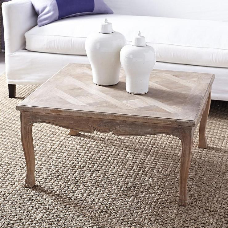 Perfectly Parquet Whitewash Coffee Table