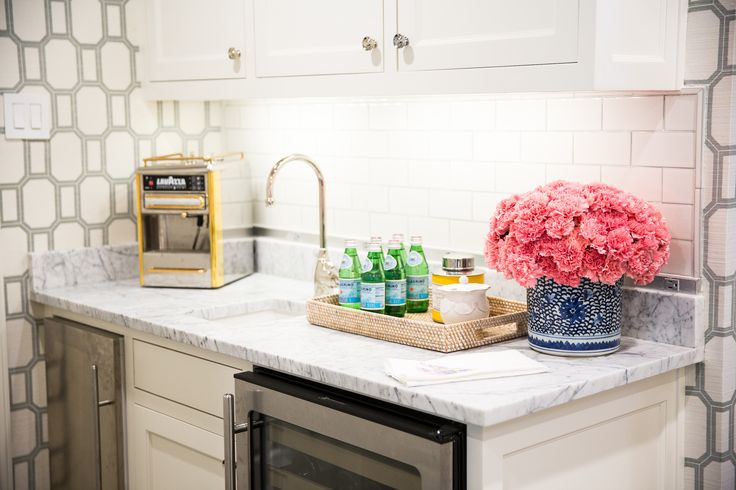 Butlers Pantry With Wine Cooler And Mini Fridge Transitional Kitchen Amy Berry Design