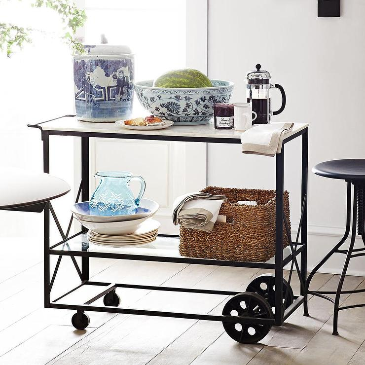 Bryant Mobile Kitchen Cart: Grey Market Kitchen Cart