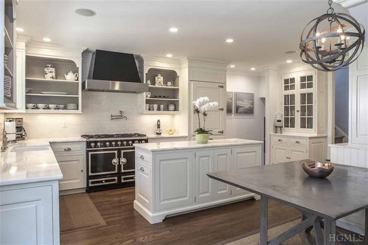 Gray Paint Inside Kitchen Cabinets Design Ideas
