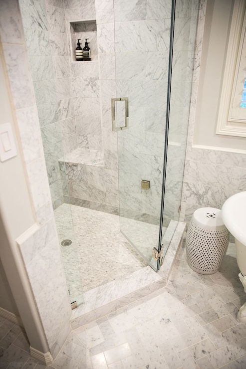 Popular Corner Shower Ideas - Transitional - Bathroom - Amy Berry Design EZ34