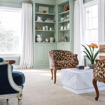 Leopard Chairs, Transitional, Bedroom, Carrie Hatfield Interior Design