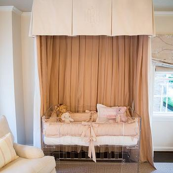 Lucite Nursery Crib & Canopy Crib Design Ideas