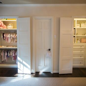Nursery With Two Closets