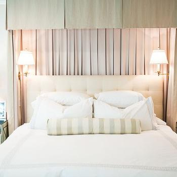 Bed with Pleated Valance and Curtains, Transitional, Bedroom, Amy Berry Design