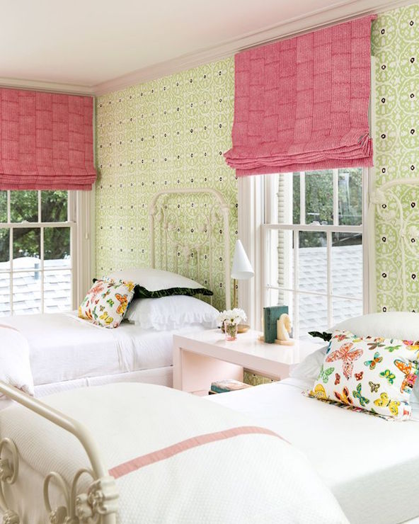 Pink And Green Kids Bedroom Transitional Girl 39 S Room Carrie Hatfield Interior Design
