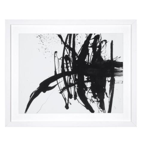 Paul ngo black ink framed art