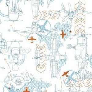 York BLUEPRINT PLANES SIDEWALL DS7743 Wallpaper