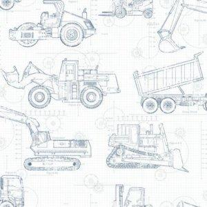 York CONSTRUCTION BLUEPRINT KS2350 Wallpaper