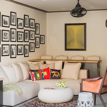 Art Gallery Over Sofa, Transitional, Living Room, Elizabeth Decor and Design