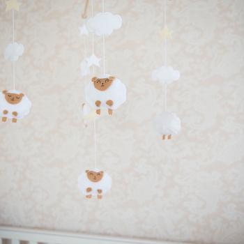 Nursery Sheep Mobile, Transitional, Nursery, Project Nursery
