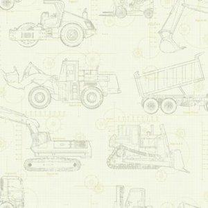 York CONSTRUCTION BLUEPRINT KS2354 Wallpaper