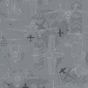 York BLUEPRINT PLANES SIDEWALL DS7740 Wallpaper