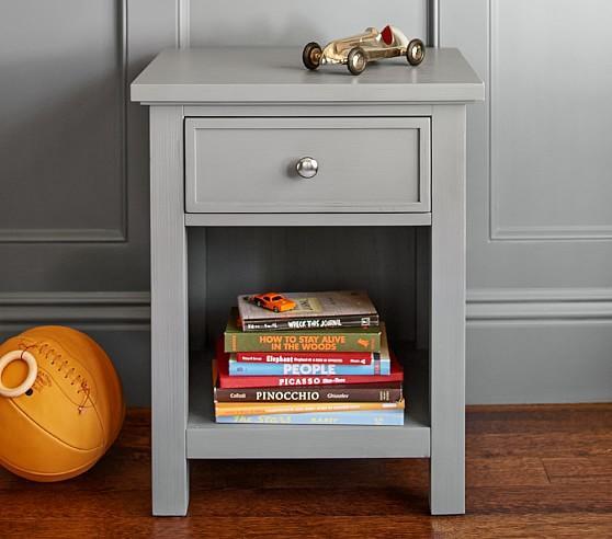 Gray One Drawer Nightstand