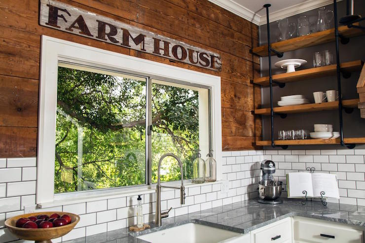 Barn Board Backsplash Country Kitchen Hgtv