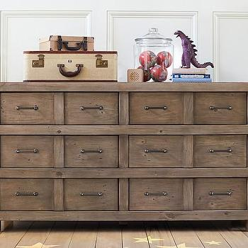 Owen Extra- Six Drawer Rustic Dresser, Wide Dresser
