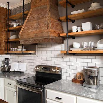 Kitchen With Barn Board Hood